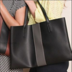 Vince Camuto Vegan Leather tote Bag black gray new